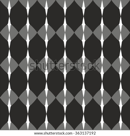 Tile pattern with black, grey and white background wallpaper - stock photo