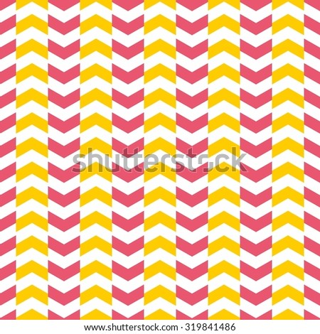 Tile pattern with yellow and pink arrows on white background