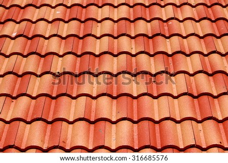 Tile roof background & texture
