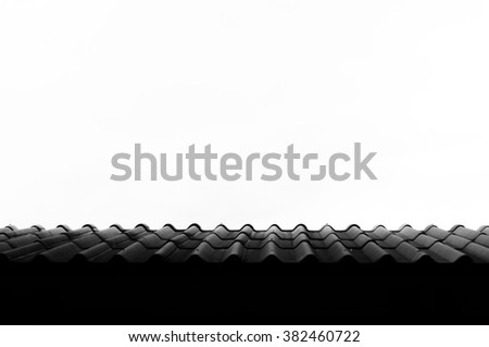 tile roof with sky.background