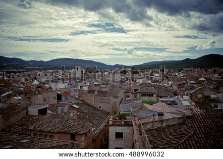 Tile roofs of the old medieval city