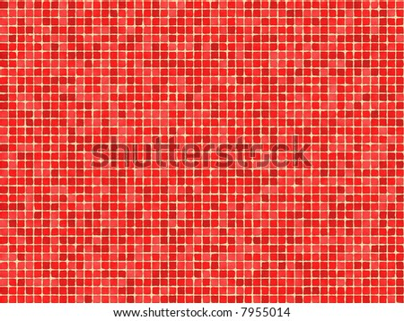 Tile wall structure background (Red) - stock photo