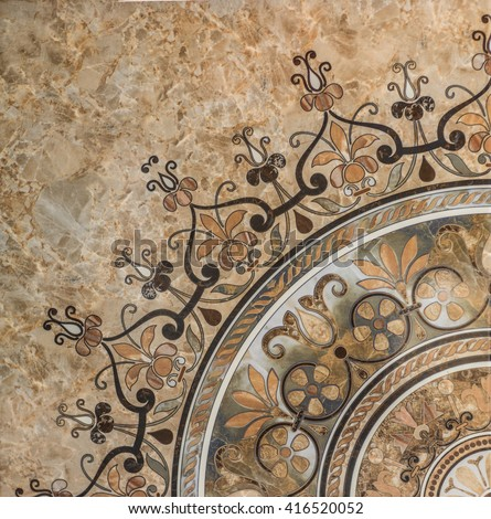 tile with oriental pattern - stock photo
