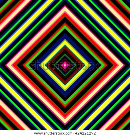 Tileable vibrant multicolored squares illustration. - stock photo