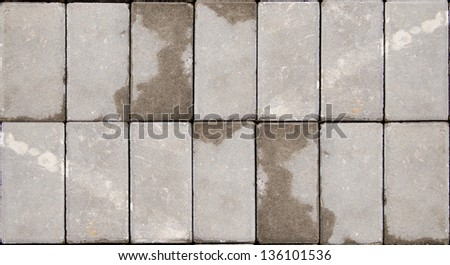 Tiled concrete pavement Pattern background texture