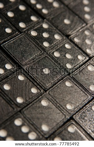 Tiled domino cards. Photo filled with dominoes - stock photo