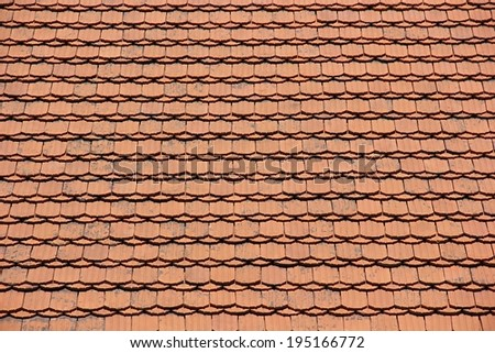 Tiled red roof texture. - stock photo