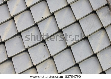Tiled roof, Thailand.