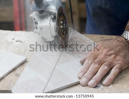 Tiler - stock photo