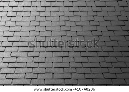 Tiles for roofing for houses, Roof Floor, black tone, texture background, dark style roof, a concept. And perspective buildings. - stock photo