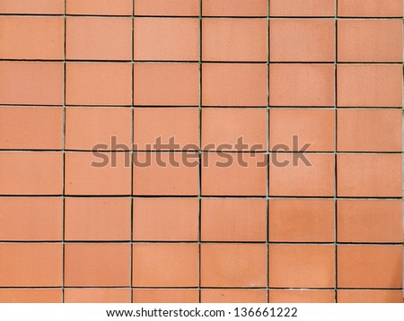 Tiles on outer building wall