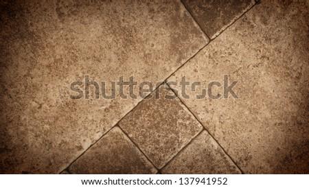 Tiles on the floor - stock photo