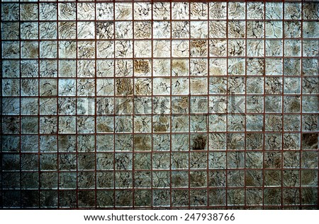 Tiles textures: multicoloured mosaic backgrounds - stock photo