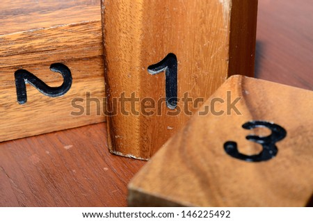 Timber cubic alphabet - stock photo
