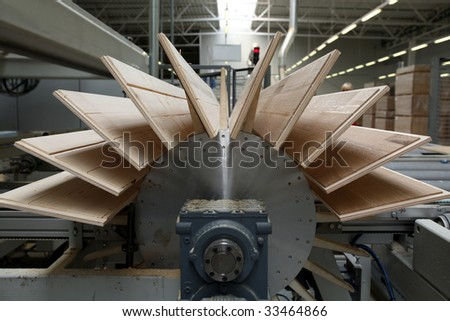 Timber Flooring Factory - stock photo