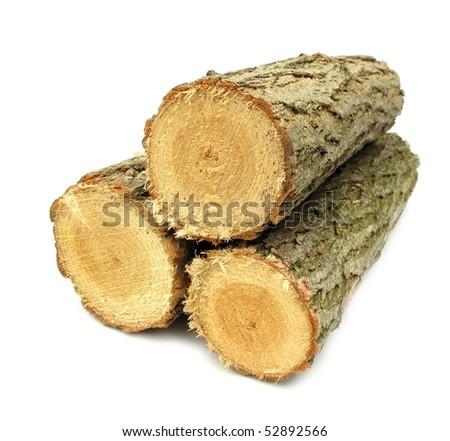 Timber lumber balk beam short - stock photo
