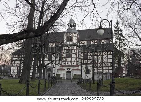 Timbered church of peace, Jawor, Silesia, Poland - stock photo