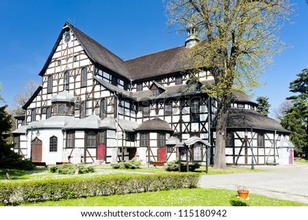 timbered church of Swidnica, Silesia, Poland - stock photo
