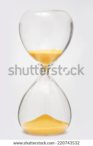 Time abstract/Hourglass - stock photo