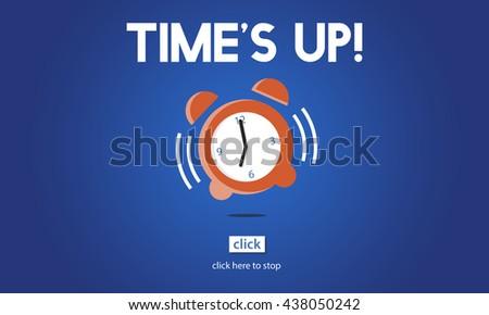Time Alarm Deadline Countdown Concept - stock photo
