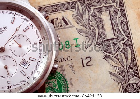 time and money business concept with us dollar