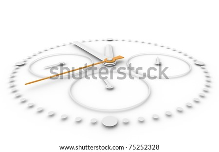 Time. Closeup of a Chronograph Watch white and orange - stock photo