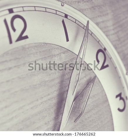 Time concept - Clock in black and white - stock photo
