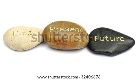 Time concept pebbles - stock photo