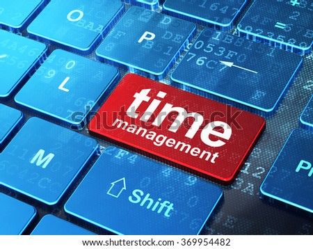 Time concept: Time Management on computer keyboard background - stock photo