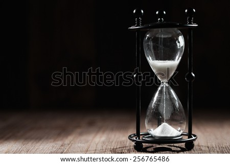 time concept with hourglass l - stock photo