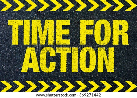 Time for action - stock photo