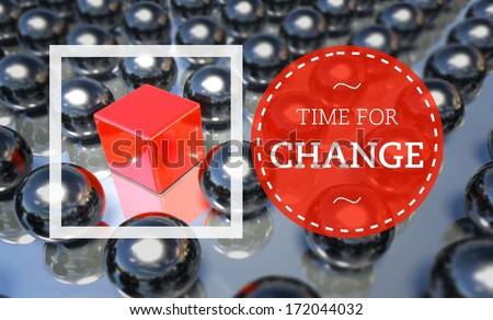 Time for change business unique concept - stock photo