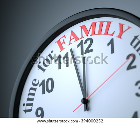 Time for Family , 3d render - stock photo