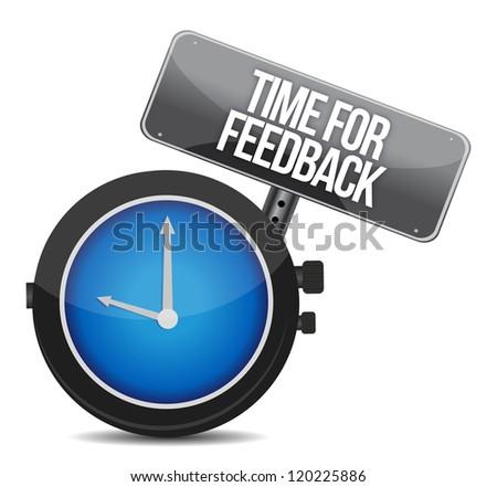 time for feedback illustration design over white - stock photo