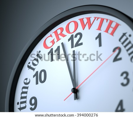Time for Growth , 3d render - stock photo