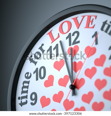 Time for Love , 3d render - stock photo