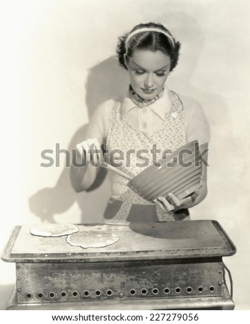 Time for pancakes - stock photo