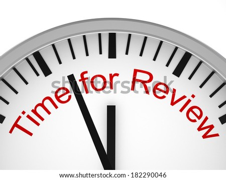 Time for Review - stock photo