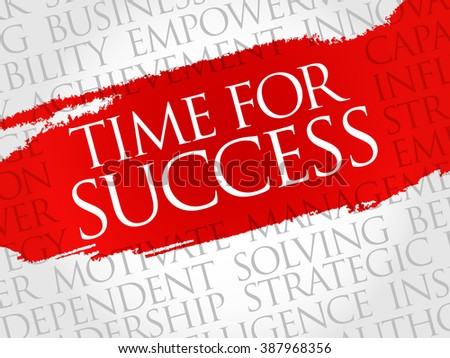 Time for Success word cloud, business concept - stock photo