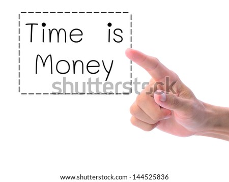 Time is money. Business concept.