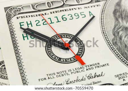 Time is money - business concept background - stock photo