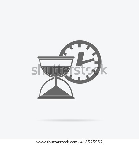Time is money concept icon. Hourglass coins. Business currency and clock, dollar saving, watch and cash, sandwatch and monetary. Time management  illustration. Black thin line on background - stock photo