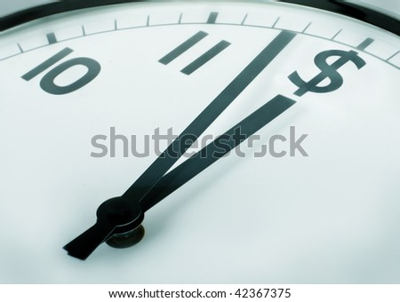 time is money (dollar) - stock photo