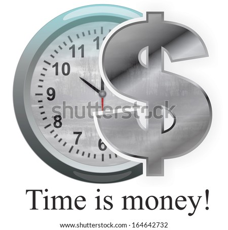 Time is money - Stock Image - stock photo