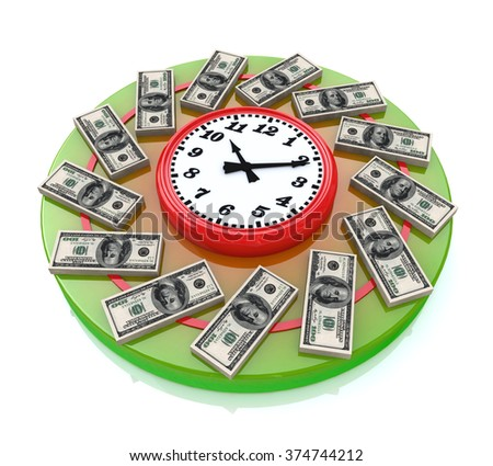 Time is money when you make information related to business and economy - stock photo