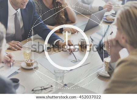 Time Management Duration Interval Graphic Concept - stock photo