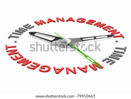time management project planning with a daily schedule to increase efficiency and productivity. Organize your tasks set goals and don't waste time. - stock photo