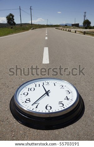 Time on the road - stock photo