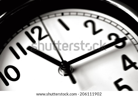 Time passing over the face of home office Wall Clock. Concept photo of time, timming,business, busy,deadline. - stock photo