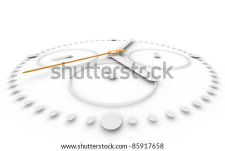 Time. Perspective view och Chronograph Watch. Orange and White - stock photo